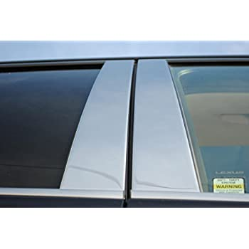 PP10124 QAA FITS GX460 2010-2019 Lexus 8 Pc: Stainless Steel Pillar Post Trim Kit, 4-Door, SUV