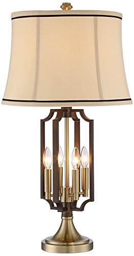 Margo Brass 4-Light Nightlight Table Lamp Regency Brass Table Lamp