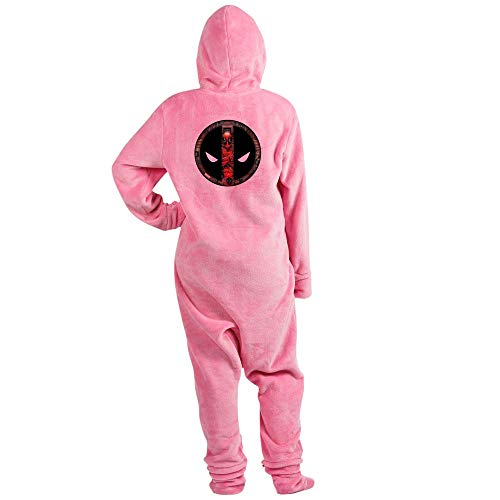 CafePress Deadpool Logo Novelty Footed Pajamas, Funny Adult One-Piece PJ Sleepwear Pink]()