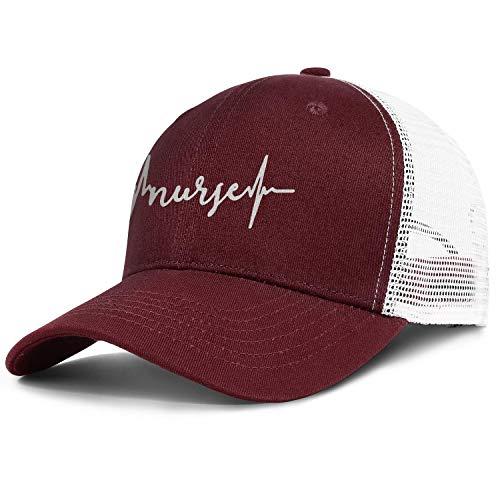 Unisex Duck Tongue Hat Nurse Heartbeat Trucker Hat Mesh Cap