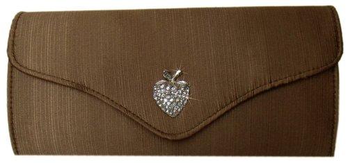DIVA-MODE - Cartera de mano para mujer marrón marrón