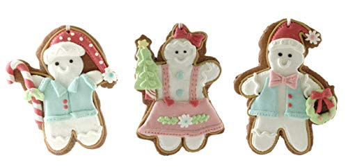 Gerson Gingerbread Cookies Holiday Figurine Ornaments - Set of 3
