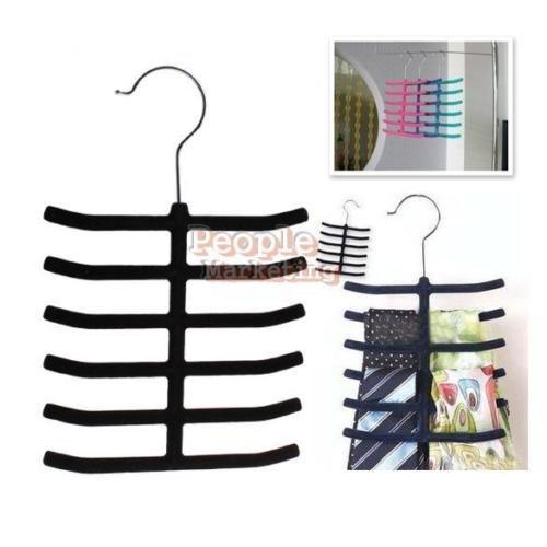 EUTTEUM P4PM 12 Bar Tie Belt Shawl Scarf Holder Hanger Closet Bedroom Organizer Storage