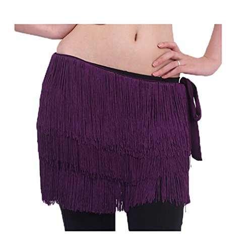 Violet Dance Belle Scarf Costume Glands Foncé Belly Hip pCq8zT