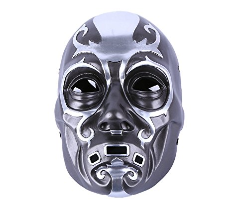 YUONE Anime Mask Cosplay Party Bauta Mask Halloween Costume Film Theme Mask Death Eater Resin Skull -