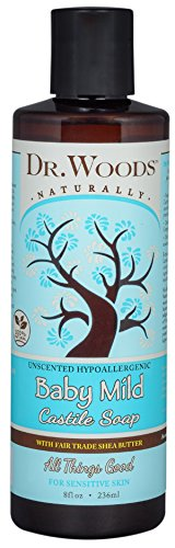 - Dr. Woods Unscented Baby Mild Liquid Castile Soap with Organic Shea Butter, 8 Ounce…
