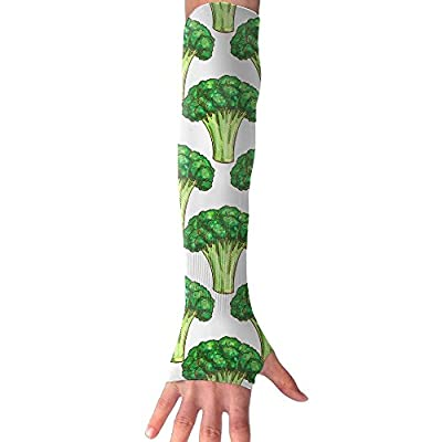 Broccoli Woods Unisex Half Finger Arm Sleeves Cover Glove Breathable Cycling Riding Cuff Gym
