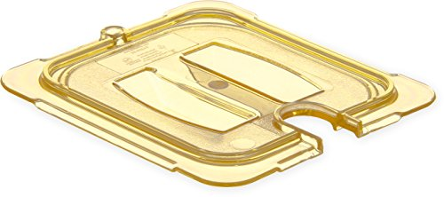 Carlisle 10511U13 StorPlus High Heat Universal Handled Notched Food Pan Lid, Sixth Size, ()
