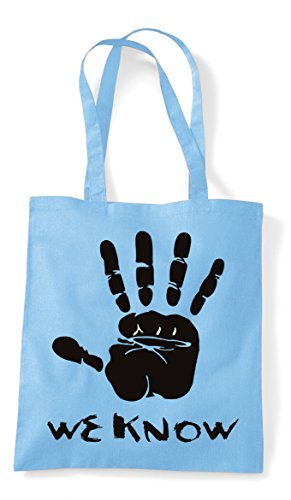 Gamer Gaming We Hand Shopper Plain Blue Know Cult Sky Bag Statement Tote pFIwqIXSx