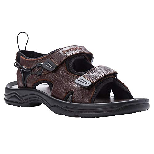 Propet Men's Surfwalker II Sandal, Brown, 9 X (3E)