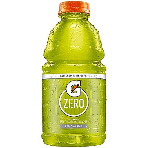 Gatorade Zero Lemon Lime, 32 Fl Oz Bottles (Pack of 6, Total of 192 Oz)