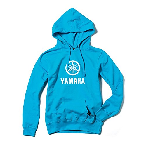 Factory Effex Women's Yamaha Stacked Hoody - Aquamarine (Small) (Hoody Sweatshirt Yamaha)