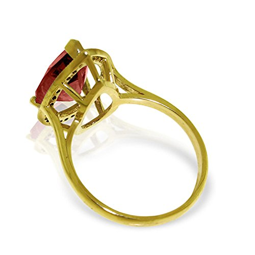ALARRI 4.06 Carat 14K Solid Gold Shade Of Love Garnet Diamond Ring With Ring Size 8 by ALARRI (Image #2)