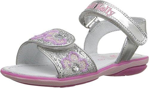 (Lelli Kelly Kids Baby Girl's Fiore Sandal (Toddler/Little Kid) Silver Glitter 20 M EU )