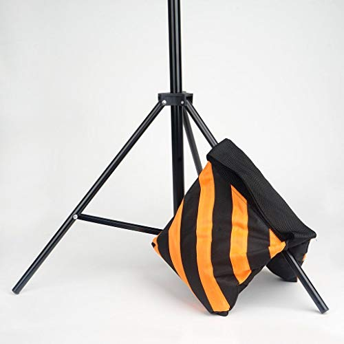 24 pcs Heavy Duty Sand Weight Saddle Bag for Photo Backdrops Wedding Party (Black and Orange) by leilaniwholesale (Image #1)
