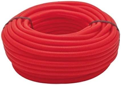 TUBO CORRUGADO ROJO 16MM 50 MTS. Tuberia corrugada roja con Certificado Aenor. Adecuado para la protección de tuberías de cobre, hierro y polietileno reticulado.