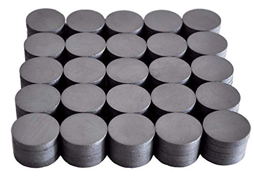 Cutequeen 100PCS Round Ceramic Industrial Ferrite Magnets for hobbies,Crafts,Science and Refrigerator magnet