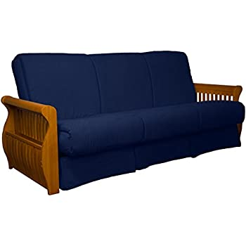 Amazon Com Monterey Full Size Futon Sofa Bed Butternut