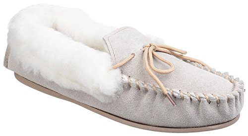 Mirak AVON Ladies Suede Fleece Lined Moccasin Slippers Be...