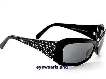 7e409db3f807 New Versace Sunglasses Swarovski 4068-B 4068B Gb1 87 Black Frame Gray Lens  Size  65-16-125  Amazon.co.uk  Clothing