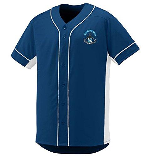 Phi Delta Theta Fraternity Crest Slugger Baseball Jersey Large Navy/White Phi Delta Theta Fraternity