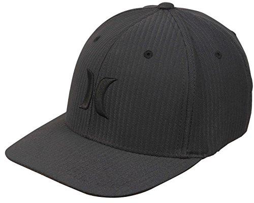 Hurley Black Textures Hat - Black/Black Flow - S/M (Embroidered Hat Hurley)