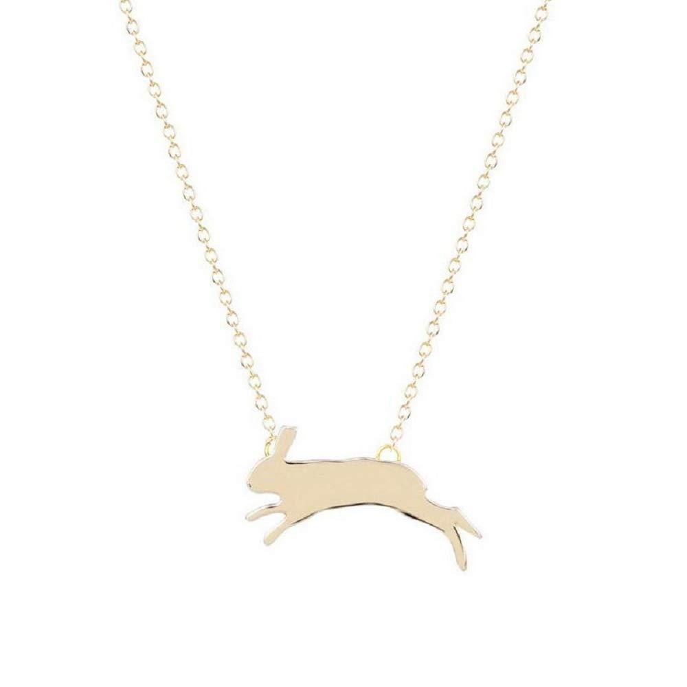 NOUMANDA Minimalist Running Rabbit Necklace Charm Animal Copper Pendant Fashion Jewelry