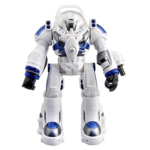 TOYEN GordVE Spaceman RC Robot With Shoots Soft Rubber Missiles, Flashing Lights and Sound, Walking Talking and (Remote Left Hand Switch Machine)