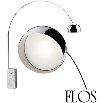 Flo's Arco 18W LED Stainless Steel Marble Floor Lamp Made in Italy