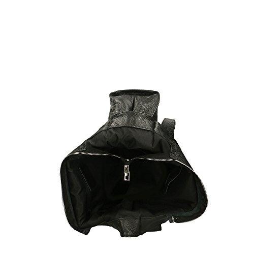 à sac pour en Cm italie bandoulière 34x31x10 Aren cuir femme en véritable fabriqué Noir Zqf5aaxdw