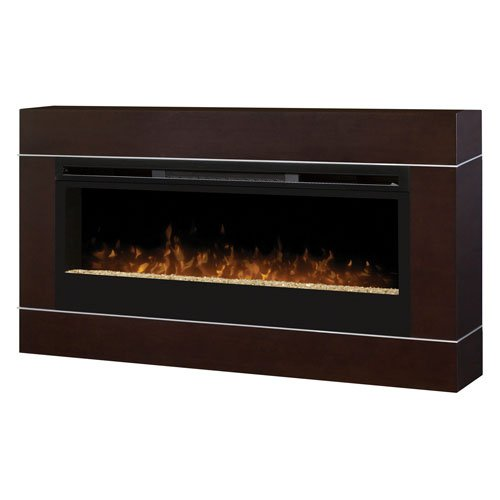 Dimplex DT1103BW Cohesion Wall-Mounted Fireplace Surround , Walnut