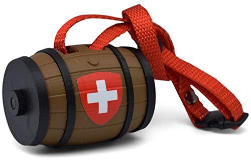 BagBarrel Dog Waste Bag Dispenser – Original Alpine Brown and red – rewindable Poop Bag Holder