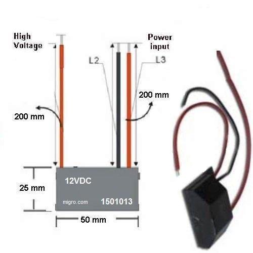 Negative Ion Generator 12V High Density Plasma Ionizer Module