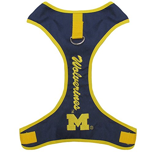 Pets First Collegiate Pet Accessories, Pet Harness, Michigan Wolverines, X-Small ()