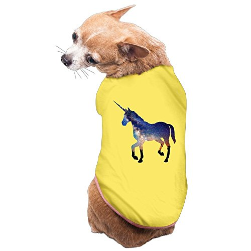NUBIA Pet Unicorn Horse Cool Costume Shirt Yellow Size - Terrier History T-shirt