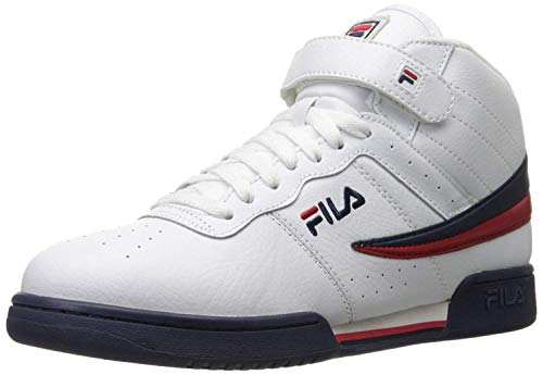 Fila Men's f-13v lea/syn Fashion Sneaker, White Navy Red, 8 M US from Fila