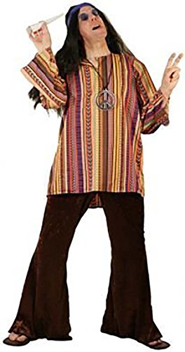 CL COSTUMES Flower Power-1960s-1970s-Fancy Dress-Unisex Chilled Hippy - All Adult Sizes (Musical Theatre Costumes To)