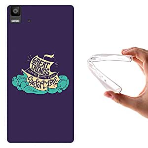 WoowCase - Funda Gel Flexible { bq Aquaris E5 } Great Things Never Came From Comfort Zone Carcasa Case Silicona TPU Suave