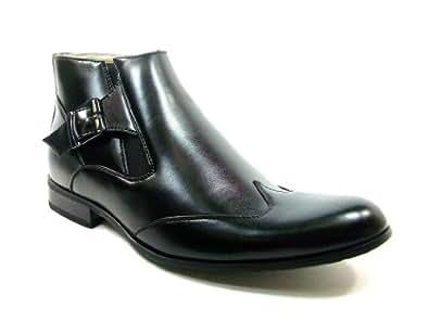 Majestic Men's 99257 Wing Tip Ankle Boots (6 D US, Black)