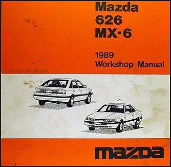 1989 Mazda 626 & MX-6 Repair Shop Manual Original