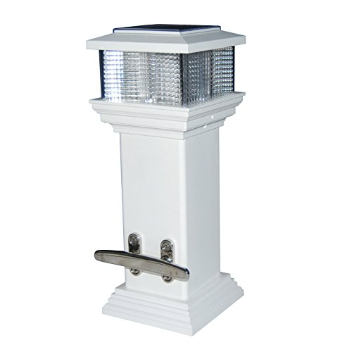 Dock Edge Cleatlite Solar Dock Light with Stainless Steel Mooring Cleat