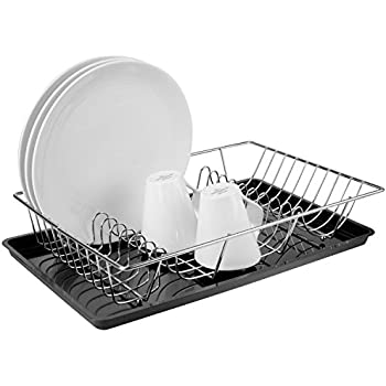 Amazon Com Mygift Countertop Chrome Plated Dish Drying