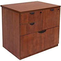 Regency 31 Combo File Dimensions: 31W X 24D X 29H Offers Storage Drawers & Lateral File Drawer At Bottom - Cherry