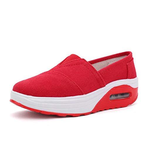 beiläufige Schuhen Schuhe Fallen Neue auf Frauen Weiß Schuhe Segeltuch EIN Erschütterungs Schuhe Luftkissen Die Faulen Rot der Exing Beleg Schwarzes xp08w1Zqq