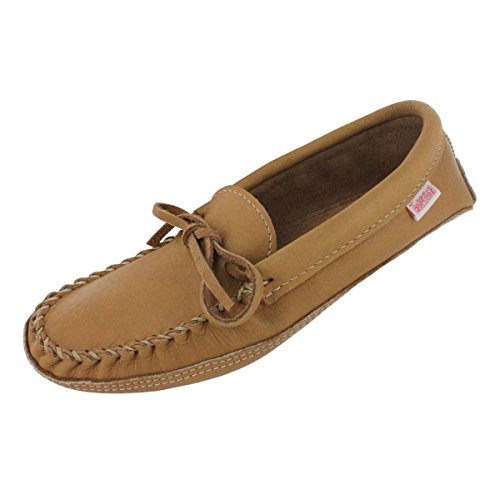 Moose Moccasin - SoftMoc Men's 3107 Double Sole Unlined Moccasin Cork 11 M US