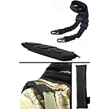Ultimate Arms Gear IDF Israeli Defense Forces Black Mount Shoulder Pad Padded + Two-Point Sling, Black For ATI German Sports Gun GSG5 GSG-5 MP5 Savage Axis 99