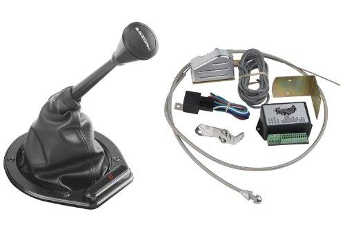 Lokar XCINB-1757 Black Cable Operated Horizontal Round Led Indicator with Boot Kit. Fits 4L60E/4L80E ()