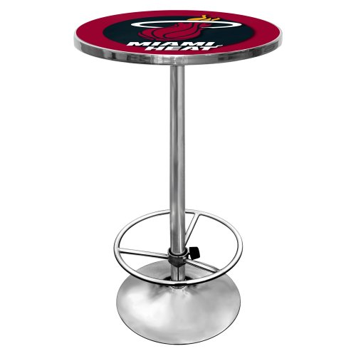NBA Miami Heat Chrome Pub Table by Trademark Gameroom