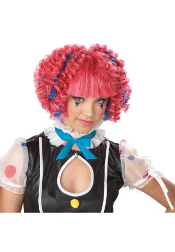 California Costumes Sassie Spirals Wig, Pink/Blue, One (Sassy Clown Costumes)