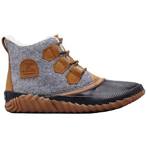 SOREL Women's Out n About Plus Boots Quarry Leather/Felt Textile Combination